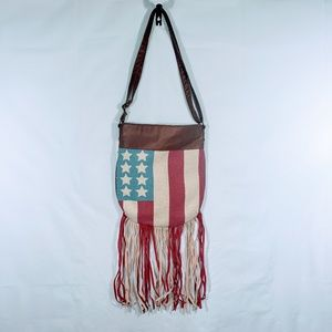 NWT JOURNEY'S AMERICAN FLAG CROSSBODY PURSE